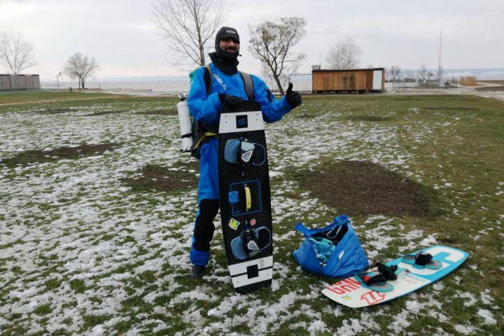 """Winter-Kiten am Neusiedler See: """"Wir sind die Wahnsinnigen!"""""""
