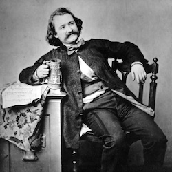 wilhelm busch, fotografie, schwarz-weiß, aufnahme 1860