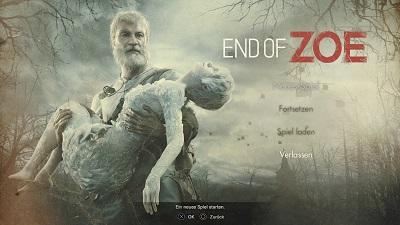 end of zoe, resident evil dlc, startmenü, playstation 4, test