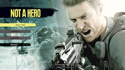 not a hero, dlc, resident evil 7, startmenü, chris redfield
