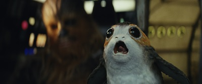 star wars 8, chewbacca, porg, humor