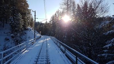 mariazellerbahn, strecke, winter