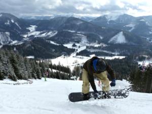 annaberg, piste, snowboarder, test