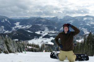 annaberg, piste, test, snowboarder, lift