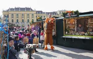 mitmach-rallye, huhn roberta, kinder, kinder-programm, ostermarkt schönbrunn, wien, 2018, schloss schönbrunn