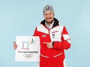 marcel hirscher, pyeongchang, 2018, logo, einkleidung, oeoc, olympia, 2018, favoriten