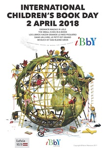 poster, internationaler kinderbuchtag, 2018, lettland