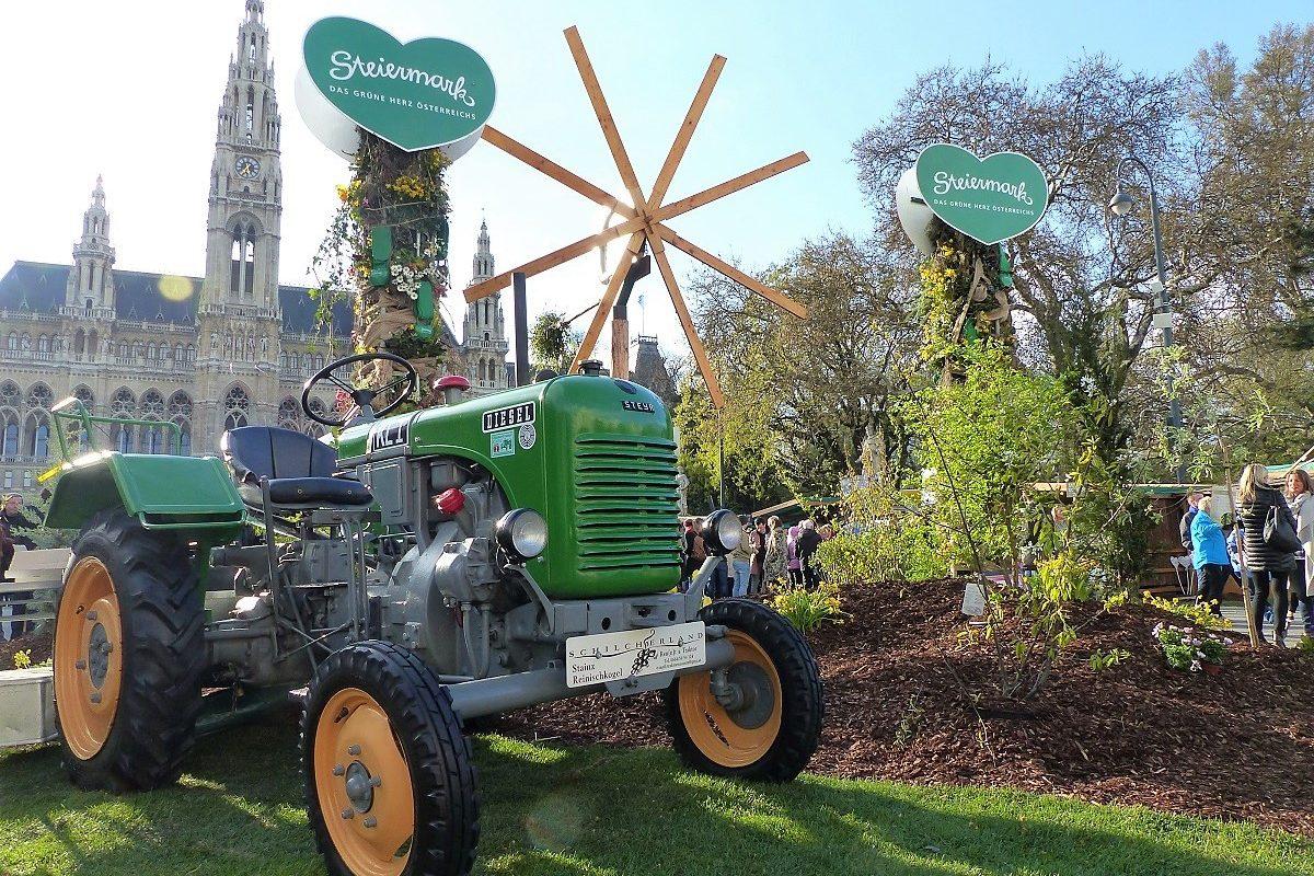 Steiermark Frühling – der Wiener Rathausplatz in steirischer Hand