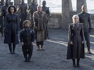 tyrion, daenerys targaryen,lord varys, missandei, grauer wurm