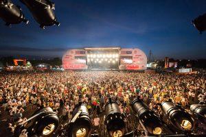 musikfestivals, crowd, live, stage