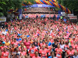 Frauenlauf, Läuferinnen, Pink, Teilnehmerzahl, Rekord