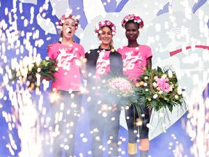 Frauenlauf, Läuferinnen, Pink, Siegerehrung, Gewinner