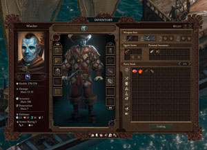 pillars of eternity II, pillars of eternity 2, deadfire, inventar, management, sim, retro-style