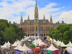 vienna pride festival 2018, rathausplatz, pride village, wien
