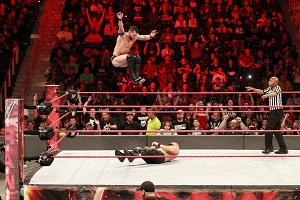 wwe raw, action, drop, seil