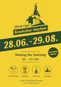 ottakringer braukultur-wochen, 2018, plakat, infos, öffnungszeiten
