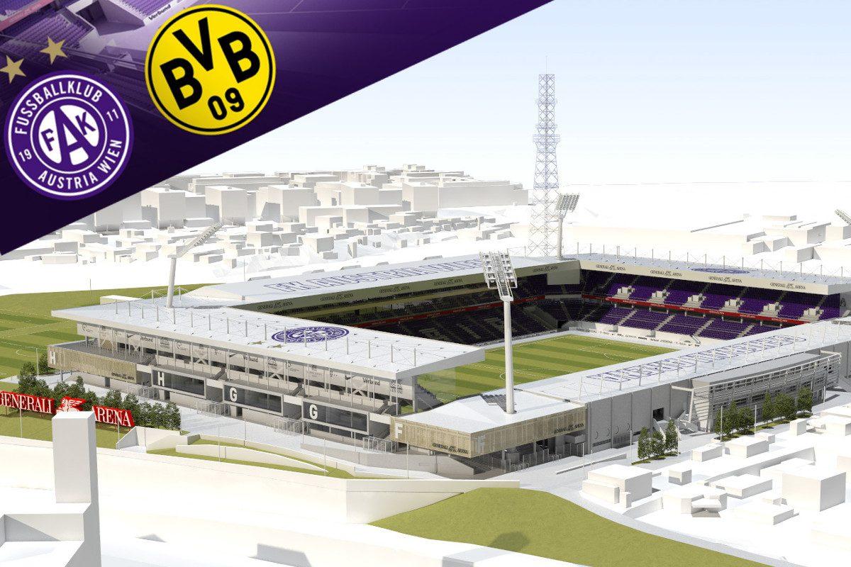 Austria-Stadion Eröffnung: Dortmund, Schneckerl & ein Bubentraum
