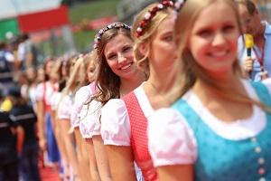 formula unas, grid girls, österreich, grand prix