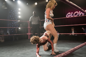 glow, netflix-serie, frauenwrestling, zoya the destroya, liberty belle, kampf