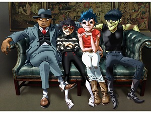 frequency, acts, gorillaz, murdoc, noodle, 2D, russel