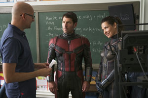 paul rudd, evangeline lilly, behind the scenes, am set, ant-man and the wasp, regisseur, peyton reed