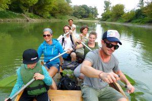 kanutour, nationalpark, donauauen, kanufahren, familienausflug, gewinnspiel