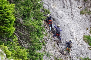 hochkar, bergmandl, klettersteig, test, anfänger, erster felsen