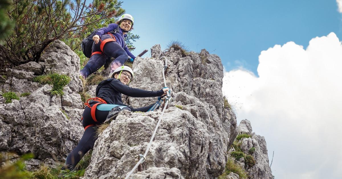 Klettersteig Wachau : Hochkar klettersteig bergmandl heli kraft im test schöner einstieg