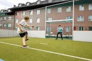 fußballspielen, jufa, hotel, hochkar, sport resort, fußballplatz