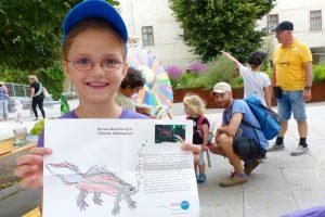 Kinderprogramm, Schloss, Orth, Nationalpark, Donau-Auen, Ausflugstipp, Kinder, Malen, Donau-Kammmolch, Bild