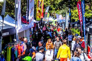 expo, bike messe, mountainbiker, besucher, aussteller