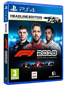 f1 2018, packshot, headline edition, cover, ps4
