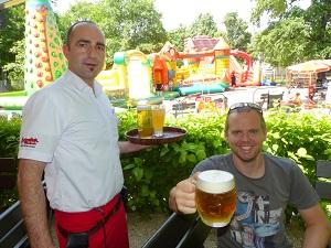 bier, luftburg, kellner, gastgarten, prater, lokal