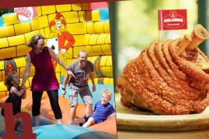 Gewinn Luftburg-Tag im Prater mit Bio-Stelzenessen für 2 Personen