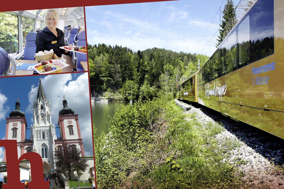 Mariazellerbahn: Gewinnt Fahrt für 2 im Panoramawagen & Frühstück