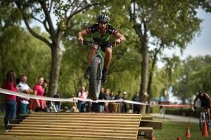 x triathlon, mountainbike, hindernis, podersdorf