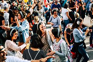 streetlife festival, silent streetdisco, wien, mariahilfer straße