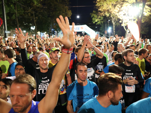 LäuferInnen, Laufwettbewerb, Menschenmasse, Nacht, Vienna Night Run, 2017