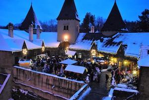 schloss ottenstein, adventmarkt, niederösterreich, winter, schnee, weihnachtszeit