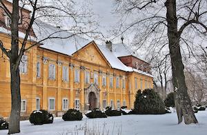 schloss marchegg, niederösterreich, winter, schnee