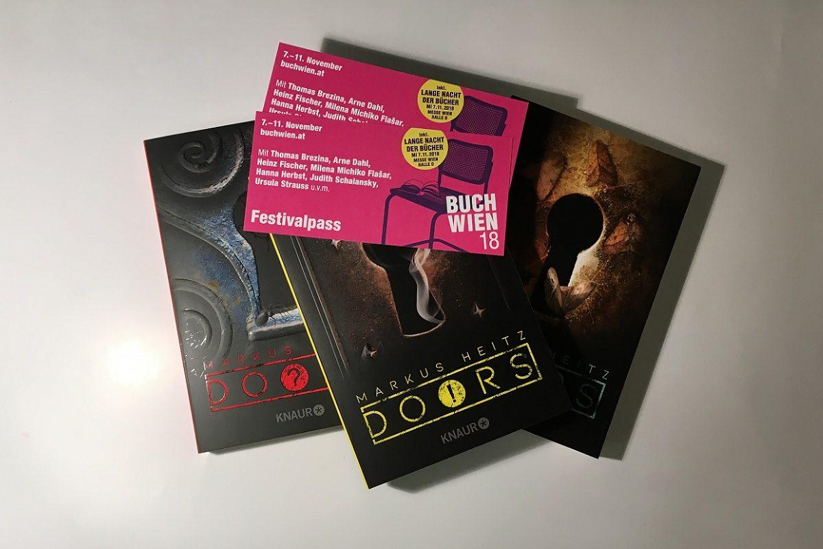 BUCH WIEN 2018: Gewinnt 2 Festivalpässe & die Buchreihe Doors