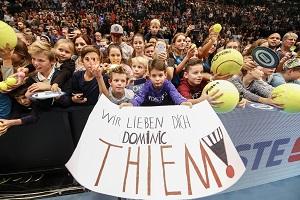 Kinder, Thiem, Fans, Wien, Erste Bank Open, Transparent