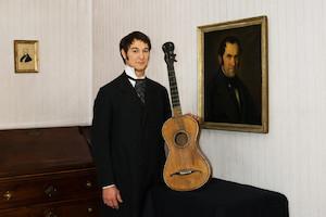 franz xaver gruber mit gitarre, nachbildung