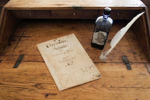 schulzirkular, arnsdorf, schreibfeder, tinte, altes schriftstückx