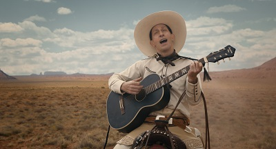 buster scruggs, gitarre, pferd, western, tim blake nelson, singt, the ballad of buster scruggs, review