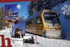 mariazellerbahn, adventfahrten, advent, winter, himmelstreppe, dampfzug, ötscherbär,e-lok
