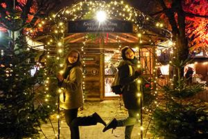 weihnachtsmarkt, campus, altes akh, mistelzweig, fotomotiv