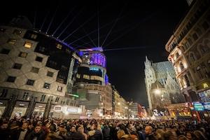 wiener silvesterpfad 2018, graben, haas haus, stephansdom, stephansplatz, silvester, party, menschen