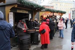 Maronistand, Christkindlmarkt, Belvedere, Stände, Wien