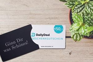 DailyDeal.at, Gutschein, 50 Euro, Gewinnspiel, Weihnachtsgewinnspiel, Geschenkidee